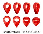 realistic map pointers. various ... | Shutterstock .eps vector #1165110316