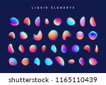 gradient iridescent shapes. set ... | Shutterstock .eps vector #1165110439