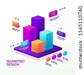 business infographic template.... | Shutterstock .eps vector #1165110760
