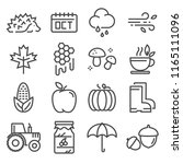 collection of autumn icons.... | Shutterstock .eps vector #1165111096