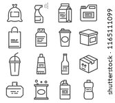 vector line package icons set.... | Shutterstock .eps vector #1165111099