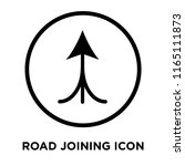 road joining icon vector... | Shutterstock .eps vector #1165111873