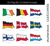eu waving flag set of north... | Shutterstock .eps vector #1165114456
