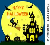 happy halloween. a halloween... | Shutterstock .eps vector #1165115983