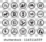 set of 20 transparency icons... | Shutterstock .eps vector #1165116559