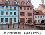 latvia. riga. streets of the... | Shutterstock . vector #1165119913