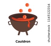 cauldron icon vector isolated... | Shutterstock .eps vector #1165122316