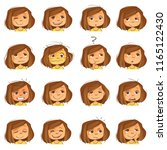 facial expressions set | Shutterstock .eps vector #1165122430