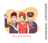 welcome aboard concept with... | Shutterstock .eps vector #1165122649