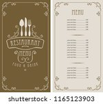 template vector menu for... | Shutterstock .eps vector #1165123903