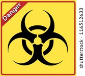 biohazard sign. yellow and... | Shutterstock .eps vector #116512633