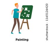 painting icon vector isolated... | Shutterstock .eps vector #1165126420