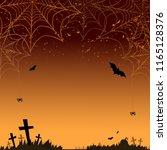 halloween background. vector... | Shutterstock .eps vector #1165128376
