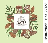 background with date fruit ... | Shutterstock .eps vector #1165129129