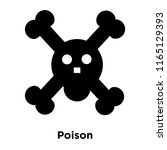 poison icon vector isolated on... | Shutterstock .eps vector #1165129393