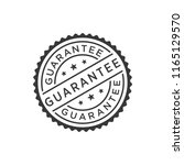 guarantee stamp icon vector | Shutterstock .eps vector #1165129570