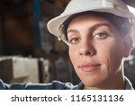 woman as trainee or apprentice... | Shutterstock . vector #1165131136