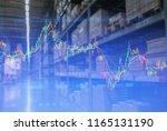 double exposure of wholesale... | Shutterstock . vector #1165131190