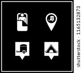 4 tent vector icon set with... | Shutterstock .eps vector #1165132873