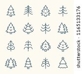christmas tree line icons | Shutterstock .eps vector #1165133176