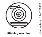 pitching machine icon vector...   Shutterstock .eps vector #1165133470