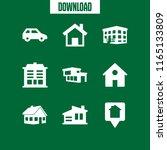 9 residence vector icon set...   Shutterstock .eps vector #1165133809