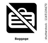 baggage icon vector isolated on ... | Shutterstock .eps vector #1165134670