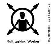 multitasking worker icon vector ... | Shutterstock .eps vector #1165135426