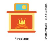 fireplace icon vector isolated... | Shutterstock .eps vector #1165136086
