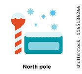 north pole icon vector isolated ... | Shutterstock .eps vector #1165136266