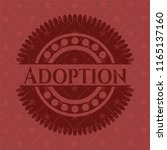 adoption red icon or emblem | Shutterstock .eps vector #1165137160