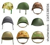 army helmet soldier military...   Shutterstock .eps vector #1165138036