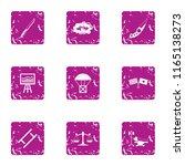 survival icons set. grunge set... | Shutterstock .eps vector #1165138273