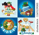 oktoberfest beer party german...   Shutterstock .eps vector #1165139083