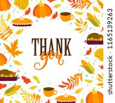 vector thanksgiving day... | Shutterstock .eps vector #1165139263