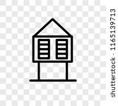 hut vector icon isolated on... | Shutterstock .eps vector #1165139713