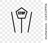 stop vector icon isolated on...