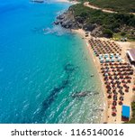 aerial view at beach at nea... | Shutterstock . vector #1165140016