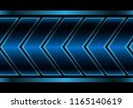 abstract blue metallic arrow... | Shutterstock .eps vector #1165140619