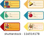 set of six christmas gift tags... | Shutterstock .eps vector #116514178