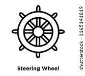 steering wheel icon vector... | Shutterstock .eps vector #1165141819
