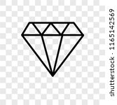 jewelry vector icon isolated on ... | Shutterstock .eps vector #1165142569