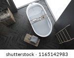 top view of modern gray wall... | Shutterstock . vector #1165142983