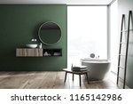 modern green wall bathroom... | Shutterstock . vector #1165142986