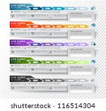 collection of web elements ... | Shutterstock .eps vector #116514304