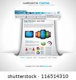 origami website   elegant... | Shutterstock .eps vector #116514310
