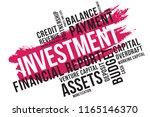 investment word cloud collage ... | Shutterstock .eps vector #1165146370