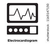 electrocardiogram icon vector... | Shutterstock .eps vector #1165147150