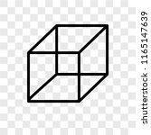 cube vector icon isolated on... | Shutterstock .eps vector #1165147639