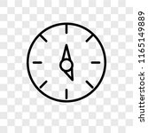 time left vector icon isolated... | Shutterstock .eps vector #1165149889